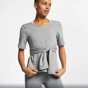 Nike Short Sleeve Wrap Yoga Training Top